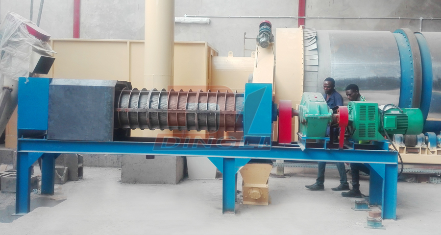 Nigeria brewer's grain screw dehydrator site