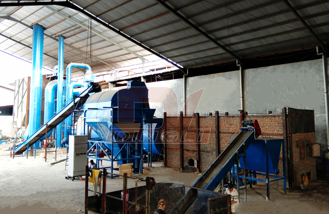 Three Channels Drum Rotary Dryer